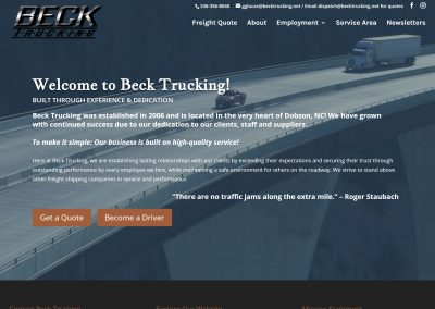 Beck Trucking Of Dobson, NC