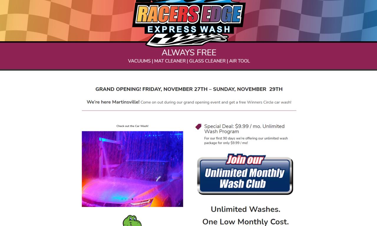 Racers Edge Express Wash of Martinsville, VA