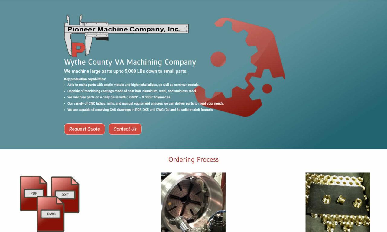 Pioneer Machine Company, Inc. of Austinville, VA
